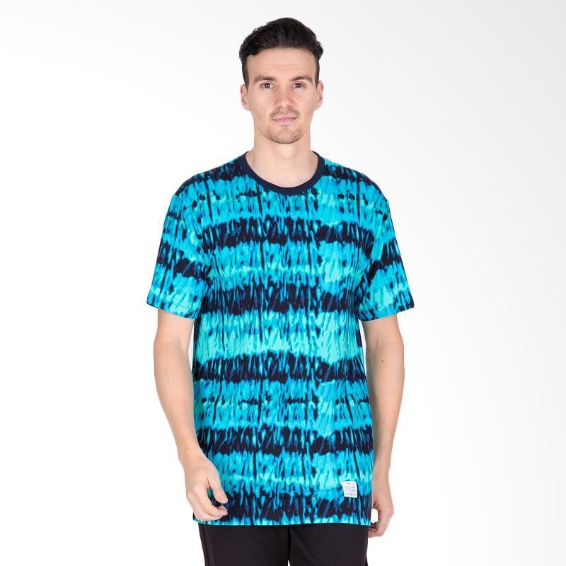 Tendencies Ice Dye T-Shirt Pria - Blue Turqoise