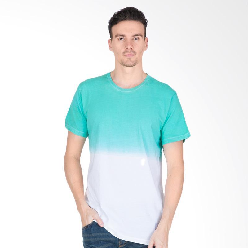 Tendencies Dip Dye Tshirt Pria - Green White