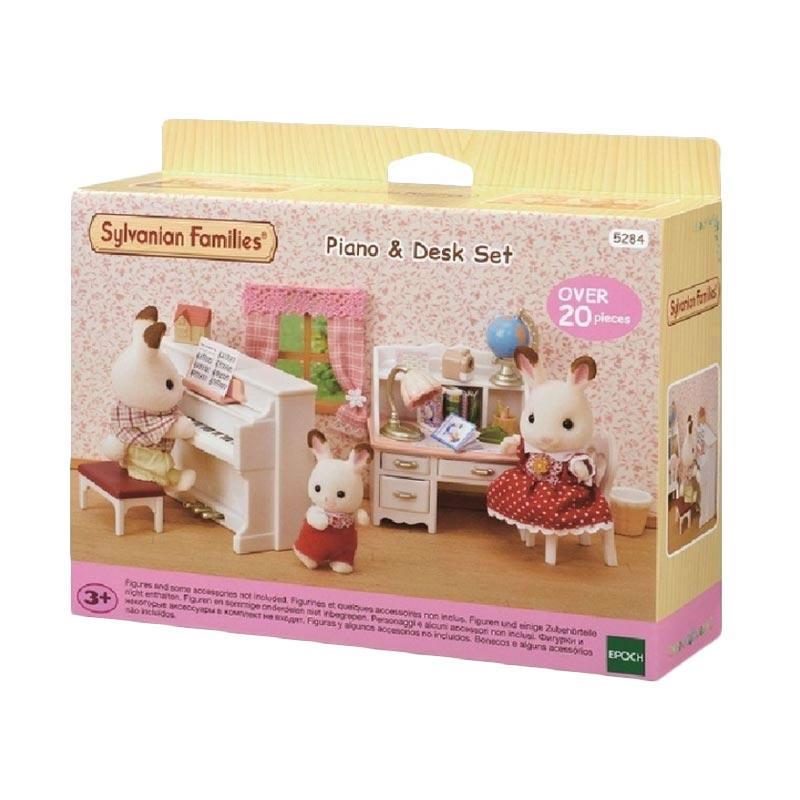 harga BOGO - Sylvanian Families Piano and Desk Set Mainan Anak + FREE Deer Baby With Piano Blibli.com