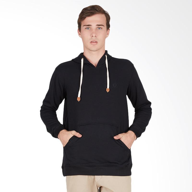 Tendencies Sweater Plain Pillover Jacket Pria - Black