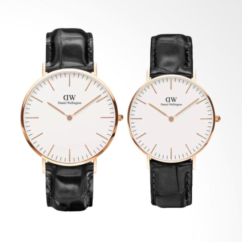 Jual Daniel Wellington Couple Set Classic Reading Jam Tangan Couple - Ring Rose Gold [40mm & 36mm] Online - Harga & Kualitas Terjamin | Blibli.com