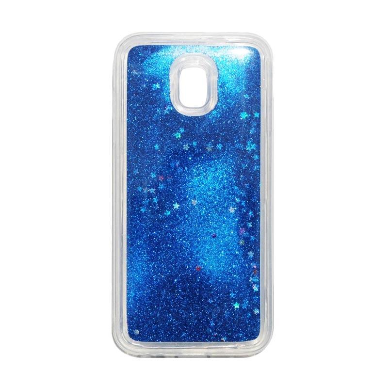 QCF Softcase Water Glitter Aquarium Silicone Casing for Samsung Galaxy J3 Pro 2017 / J330 Case Blink Blink - Biru