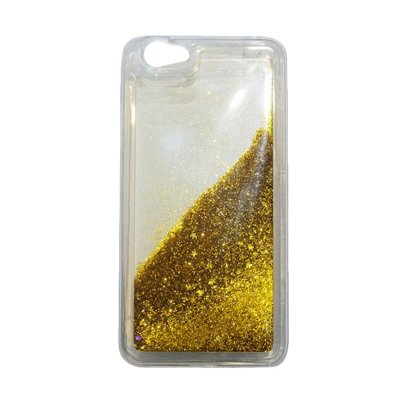 QCF Softcase Water Glitter Aquarium Silicone Casing for Vivo Y53 Case Blink Blink - Gold