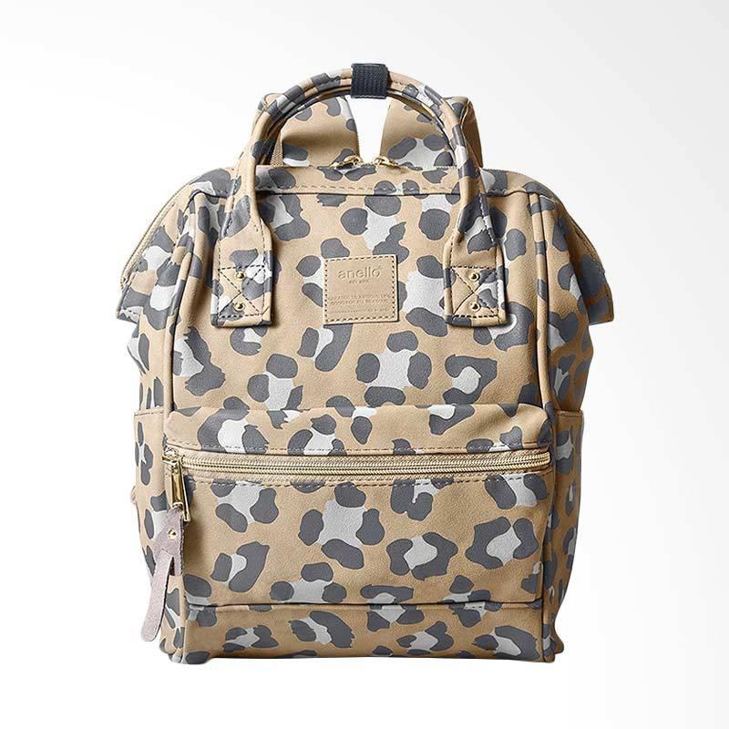 Anello Mini Leopard Pattern Backpack Tas Wanita - Leopard Green