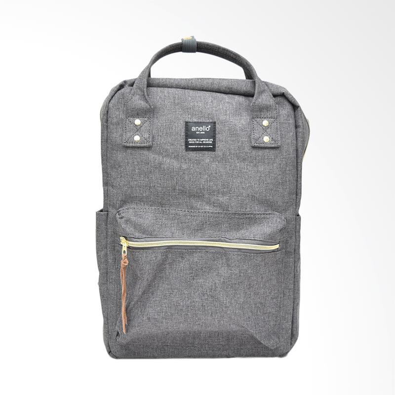 Anello Casual Multifungsi Square Backpack Tas Ransel - Grey
