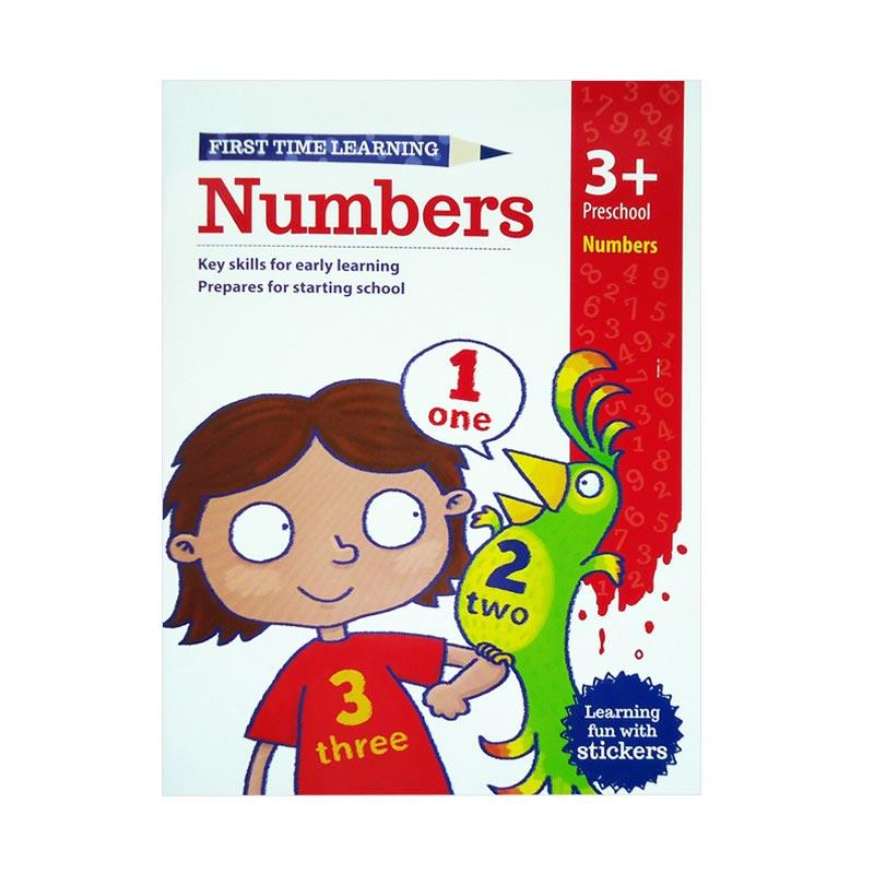 Genius First Time Learning Numbers Preschool 3 Learning fun with Stickers Buku Edukasi Anak