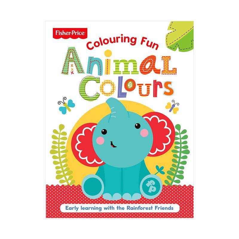Genius Fisher Price Colouring Fun Animal Colours Buku Anak