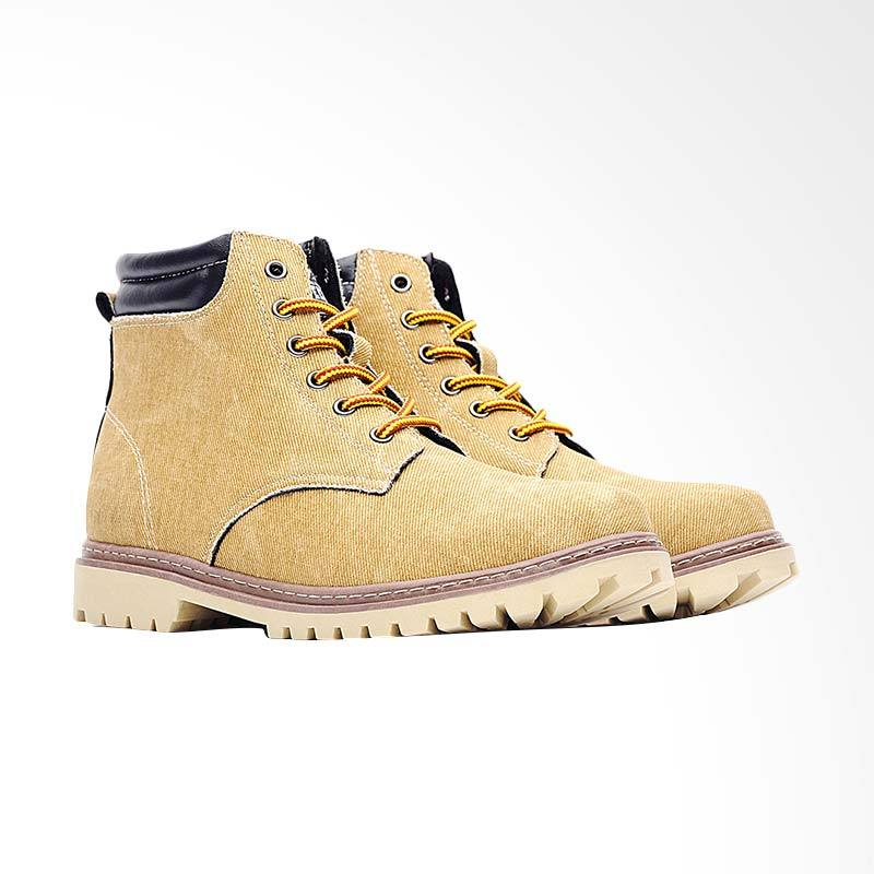 harga Life8 Casual Washed Canvas Simple Boots Pria - Brown [09739] Blibli.com