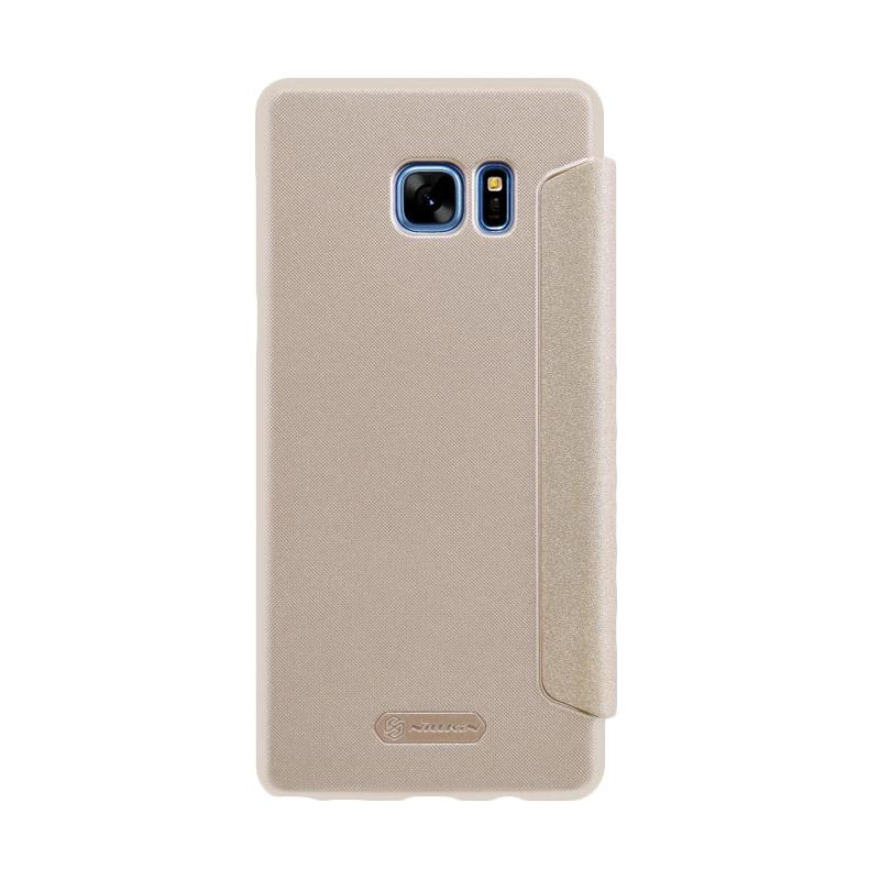 harga Nillkin Sparkle Leather Casing for Samsung Galaxy Note FE or Galaxy Note 7 - Gold Blibli.com