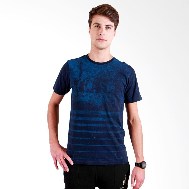 180 Degrees Peace T-Shirt Pria - Navy