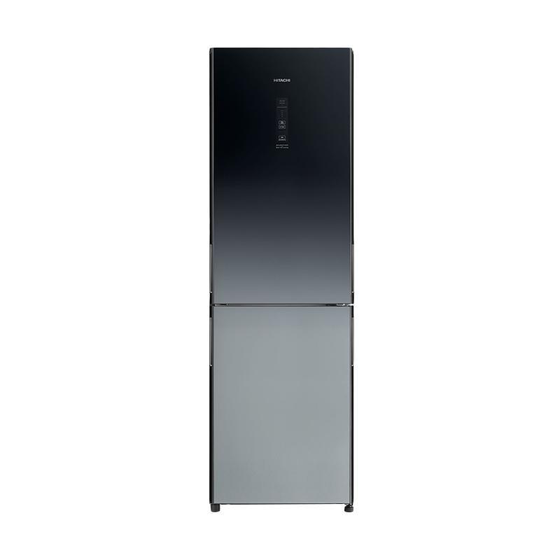 [RESMI] Hitachi R-BG41PGD6XGR Kulkas 2 Pintu - Black Grey