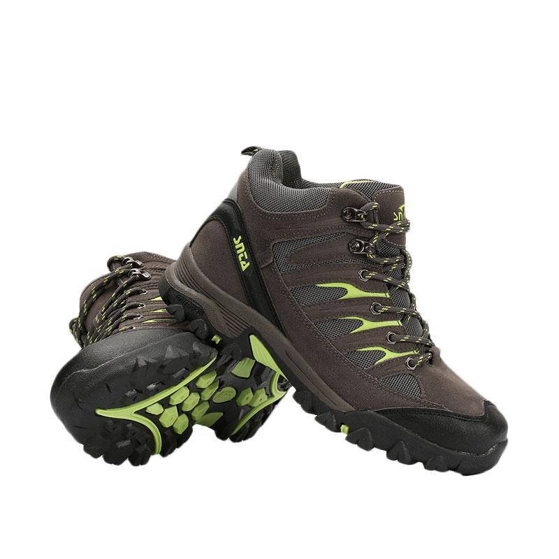 Snta Sepatu Gunung Boot / Hiking / Trekking / Outdoor - Grey Green [SNTA 475]