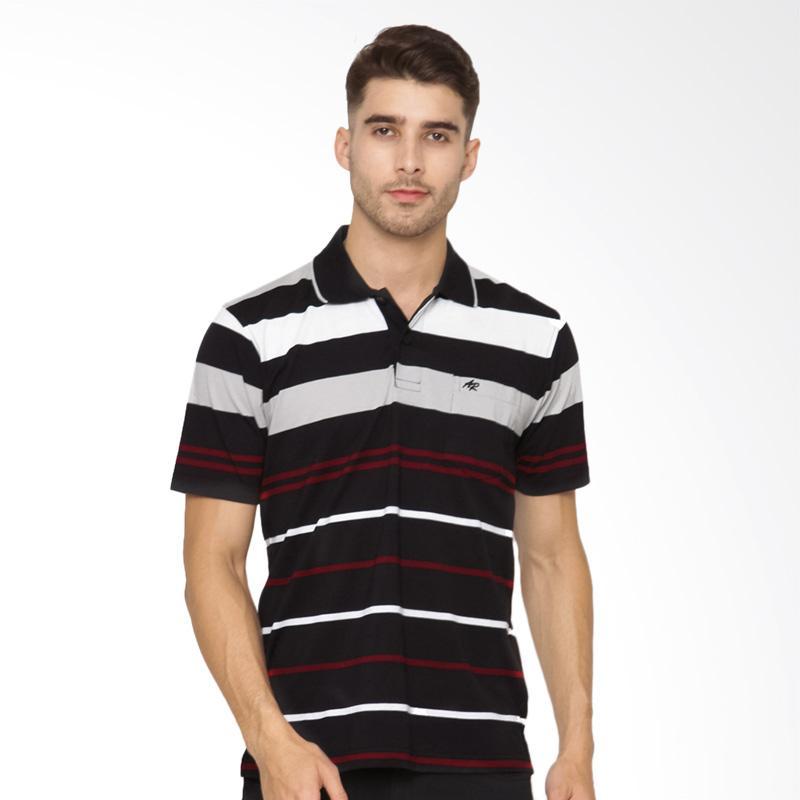 Arnett Stripe Polo Shirt Pria