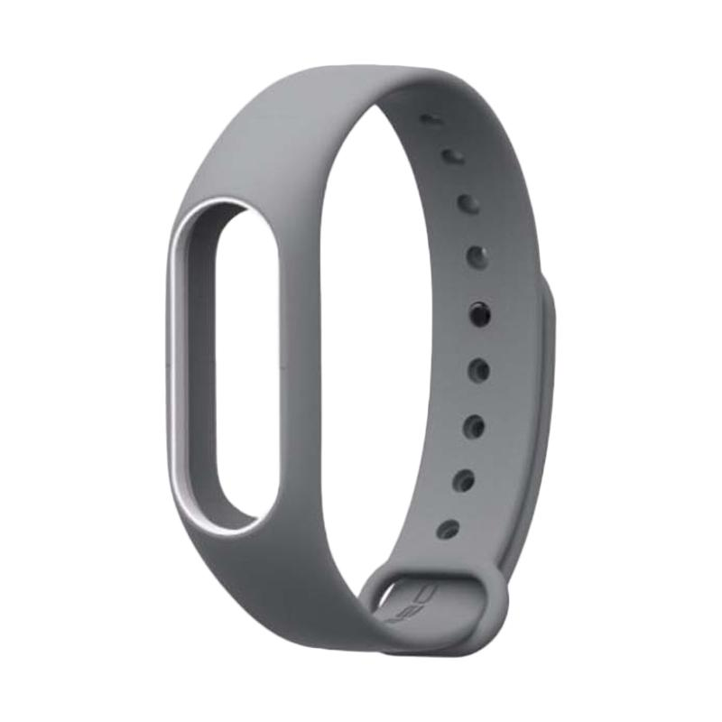 Mijobs Strap for Xiaomi Mi Band 2 Oled Display - Grey White [Original]