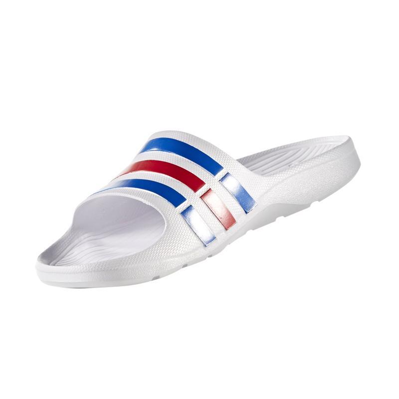 adidas Duramo Slide Sandal Olahraga Pria - Blue White Red [U43664]