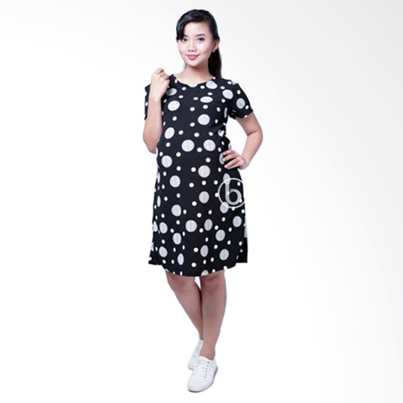 harga Mama Hamil DRO 888 Polka Mini Sabrina Olin Baju Dress Ibu Hamil dan Menyusui - Hitam Blibli.com