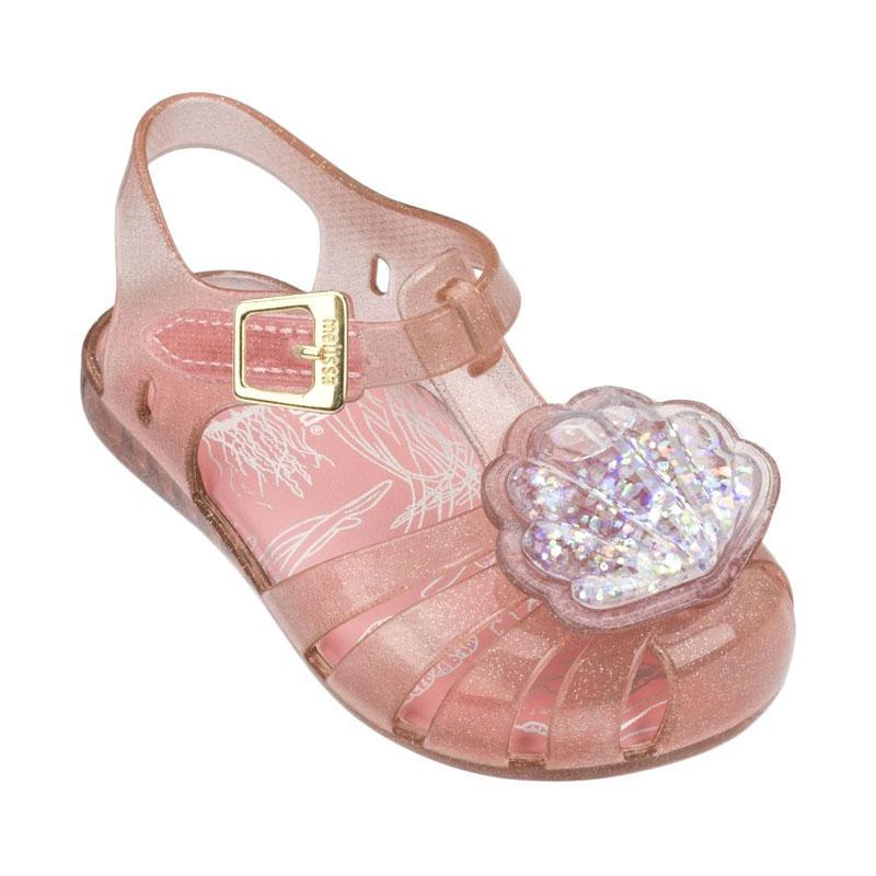 Mini Melissa Aranha XII Shell Sepatu Bayi - Coral