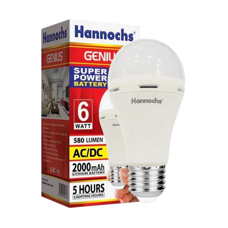Diskon Harga Hannochs Genius Emergency Lampu LED [6 W] Online Shop Terbaru