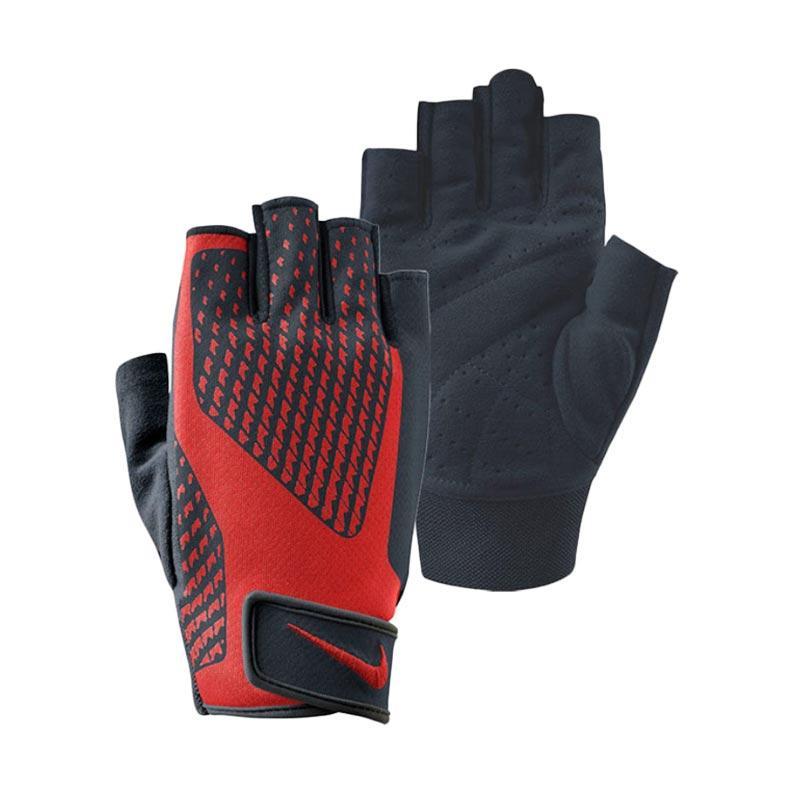 NIKE Core Lock Training Sarung Tangan Olahraga Pria - Black Red [NLG38020]