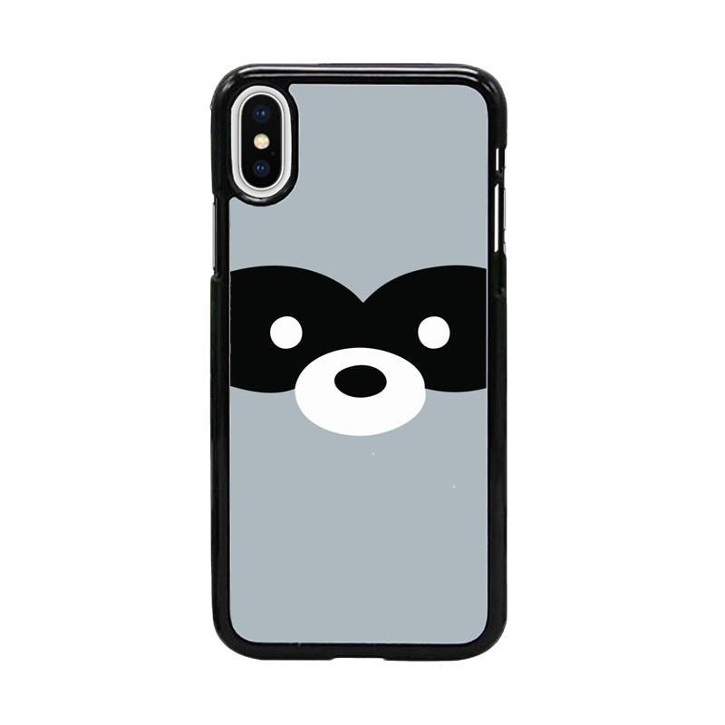 Acc Hp Raccoon Cute Face W5058 Custom Casing for iPhone X