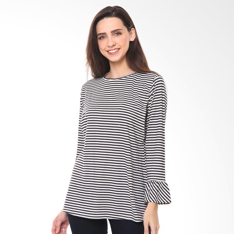 harga Just Mom JC103 Janice Stripes Baju Ibu Menyusui - Black Blibli.com