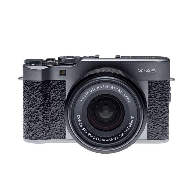 Fujifilm X A5 XC 15 45mm F3 5 5 6 Kamera Mirrorless Dark Silver