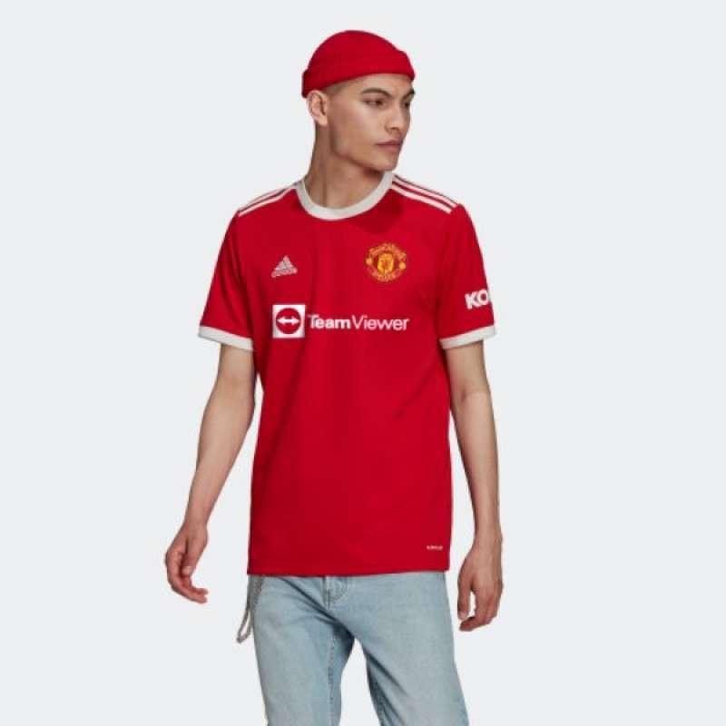 100% Original Adidas Men Manchester United 21-22 Home Jersey Red H31447 S-XXL 2108