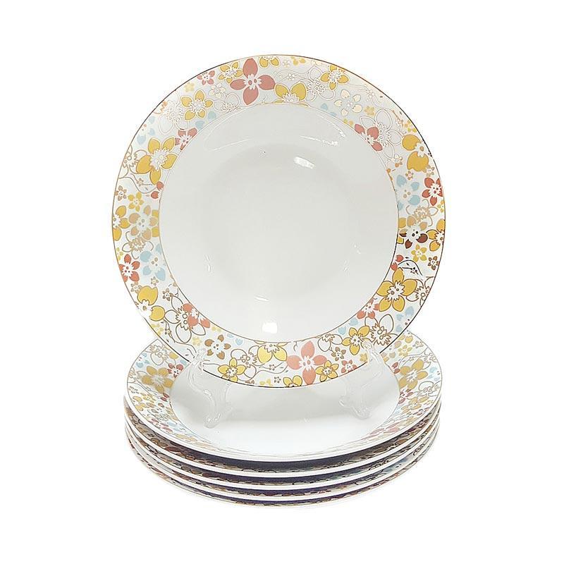 Diskon Murah Vicenza B179 Motif Poppy Plate Set Piring Makan [9 inch/ 6 pcs