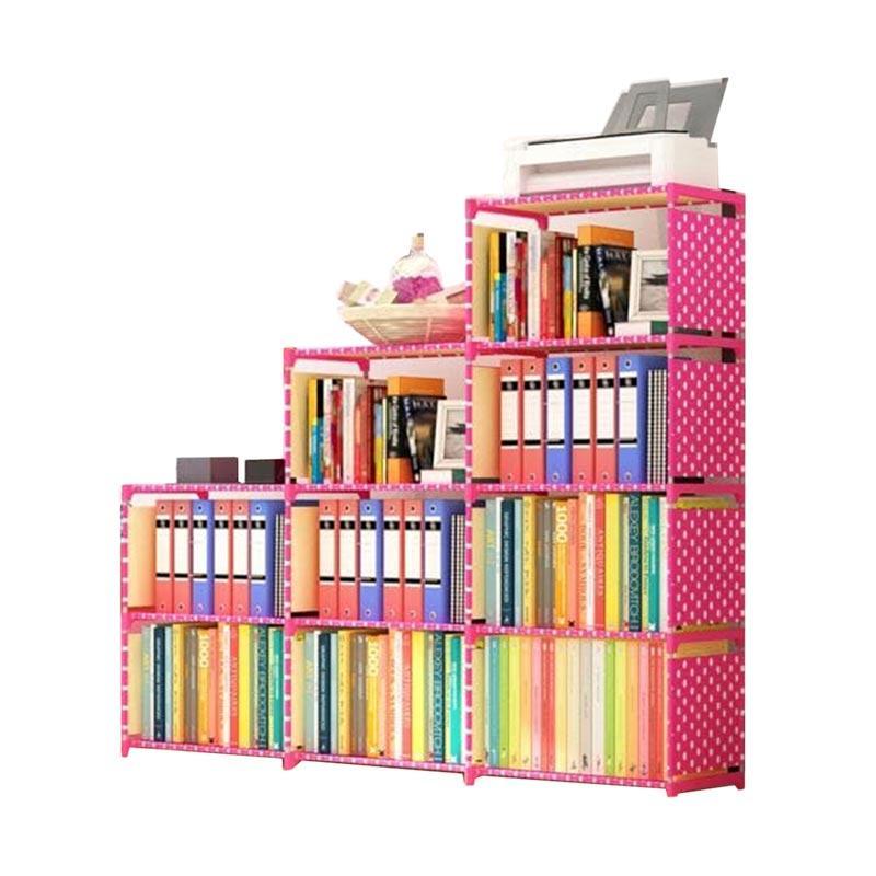 Jual Godric Rak Buku Portable TRIPLE 3 Sisi / Lemari Serbaguna 12 Layer 9 Ruang Susun 123 x 125 x 31 CM - POLKADOT Online - Harga & Kualitas Terjamin ...