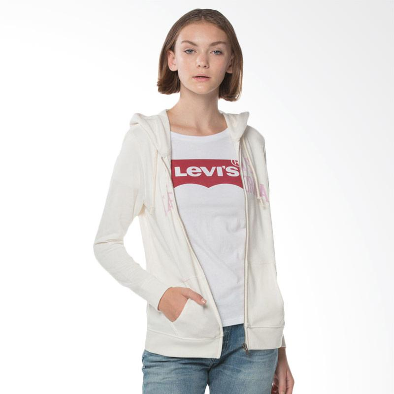 Levi s 17389 0020 Classic Zip Hoodie Cloud Dancer Jacket Wanita White