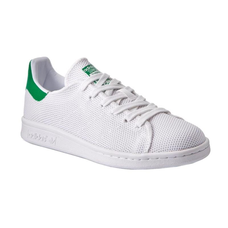 adidas Stan Smith Sepatu Olahraga Pria - White Green  Original  9a64a1a2b1