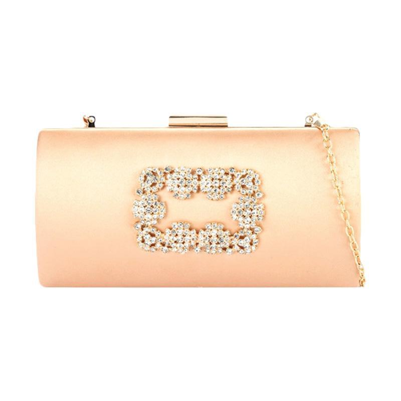 Lyons Sandra Champagne Clutch Bag