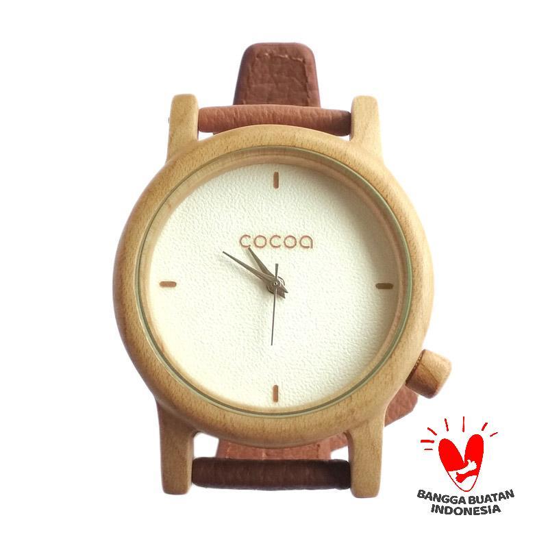 Jual Cocoa Watch Kayu Maple Jam Tangan Unisex - Putih Online - Harga    Kualitas Terjamin  dd3c17894d