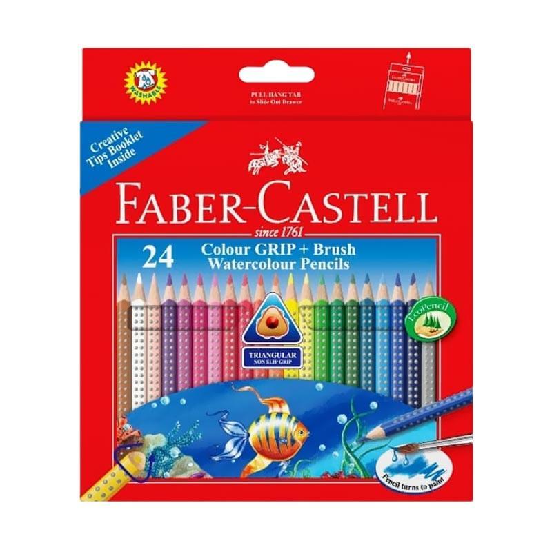 Faber Castell Colour Grip Watercolour Pencils 24L f