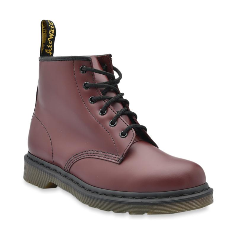 Dr Martens 6 Eyelet Sepatu Boot Pria Cherry Red 101