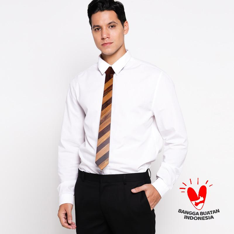 Gentlehomme Wooden Tie Diagonal Combination Dasi Pria