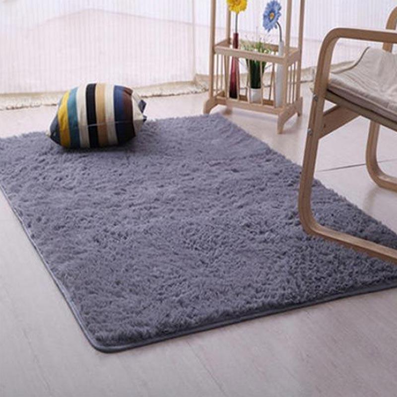 Jual Bluelans Plush Shaggy Soft Carpet Room Area Rug Bedroom Slip Resistant Door Floor Mat 60 X 160 Cm Online November 2020 Blibli Com