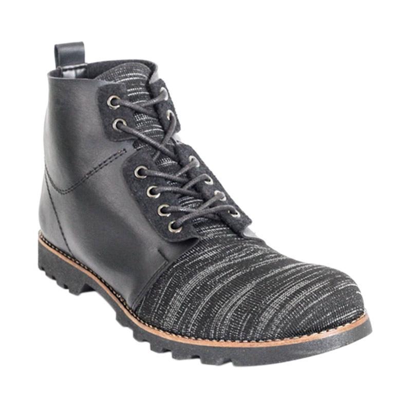 super popular 911b8 c973b Lvnatica Footwear Gazelle Ankle Boots Sepatu Pria - Black