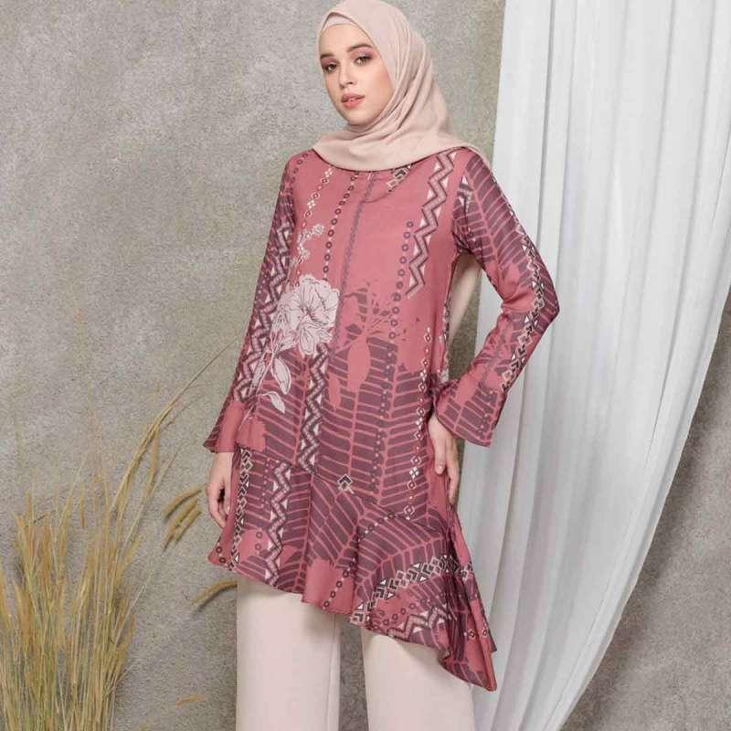 Louisaluna Dinaya Tunic Muslim Wanita Marte