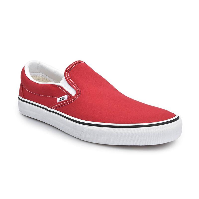 Vans UA Classic Slip On Racing Sepatu Pria Red True White