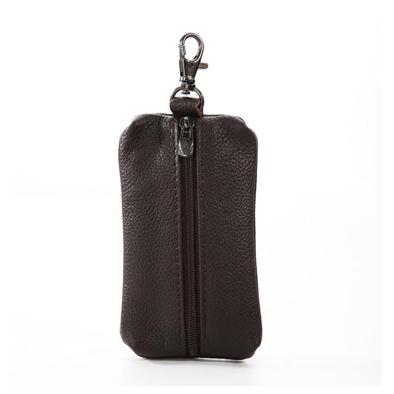 Ladies Leather Car KeyChain Card Holder Wallet Case key Organizer Bag keyring HO