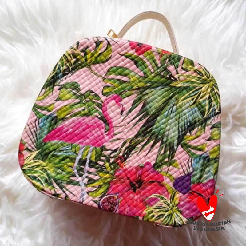 Jual Kanaka Craft Decoupage Flamingo Tas Wanita Kerajinan Tangan Online November 2020 Blibli Com