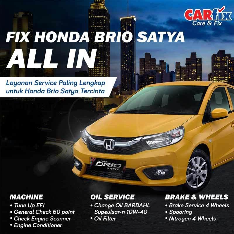 Jual Carfix Fix All In E Voucher Paket Service Mobil For Honda Brio Mesin Ganti Oli Rem Jateng Diy Online Februari 2021 Blibli