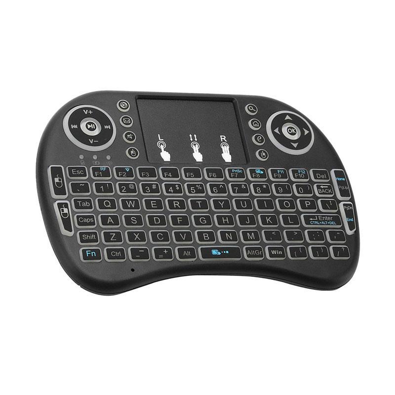 Black Mini Wireless Keyboard and Mouse Set Mini 2.4GHz Ergonomic for PC Laptop