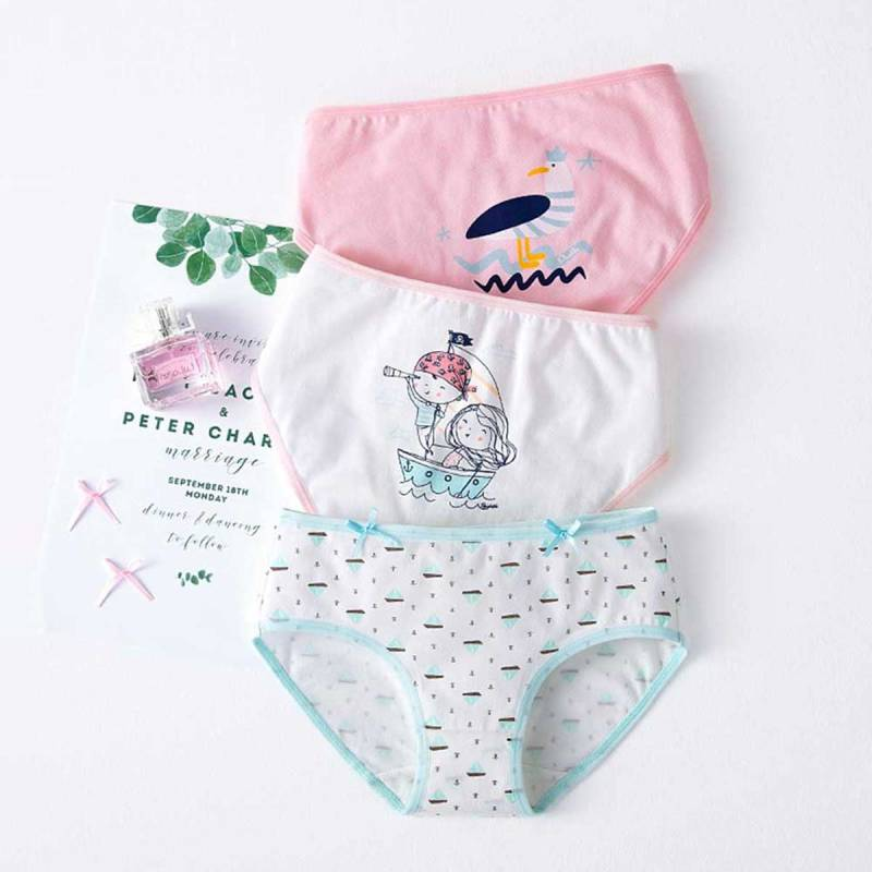 Loveble Kids Baby Soft Cotton Panties Little Girls Underwear Briefs 3Pcs