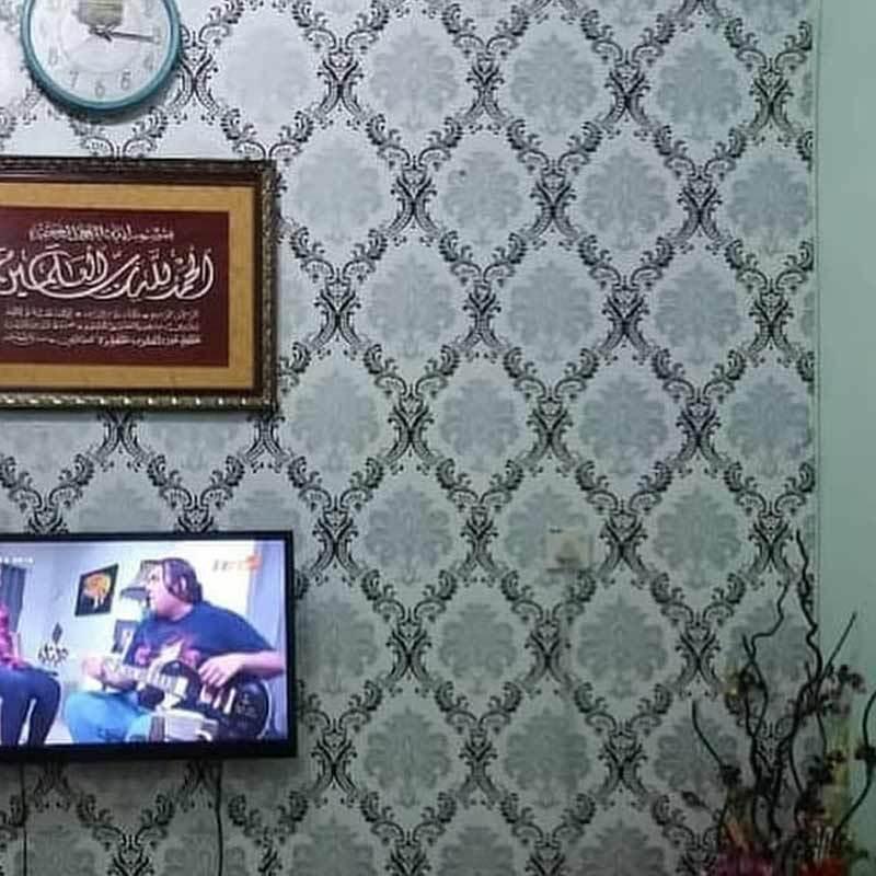 Jual Oem Motif Batik Wallpaper Dinding Silver Hitam Online November 2020 Blibli Com