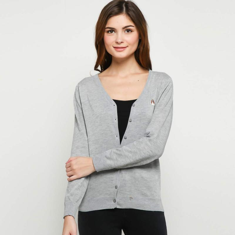 Hush Puppies LH18405GY Claes Sweatshirts Cardigan Wanita Grey