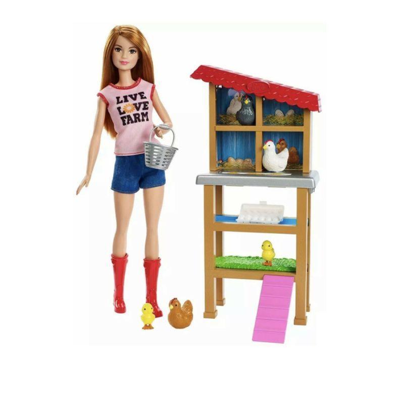 Jual Barbie Chicken Farmer Doll And Playset Boneka Mainan Anak Perempuan Online November 2020 Blibli Com