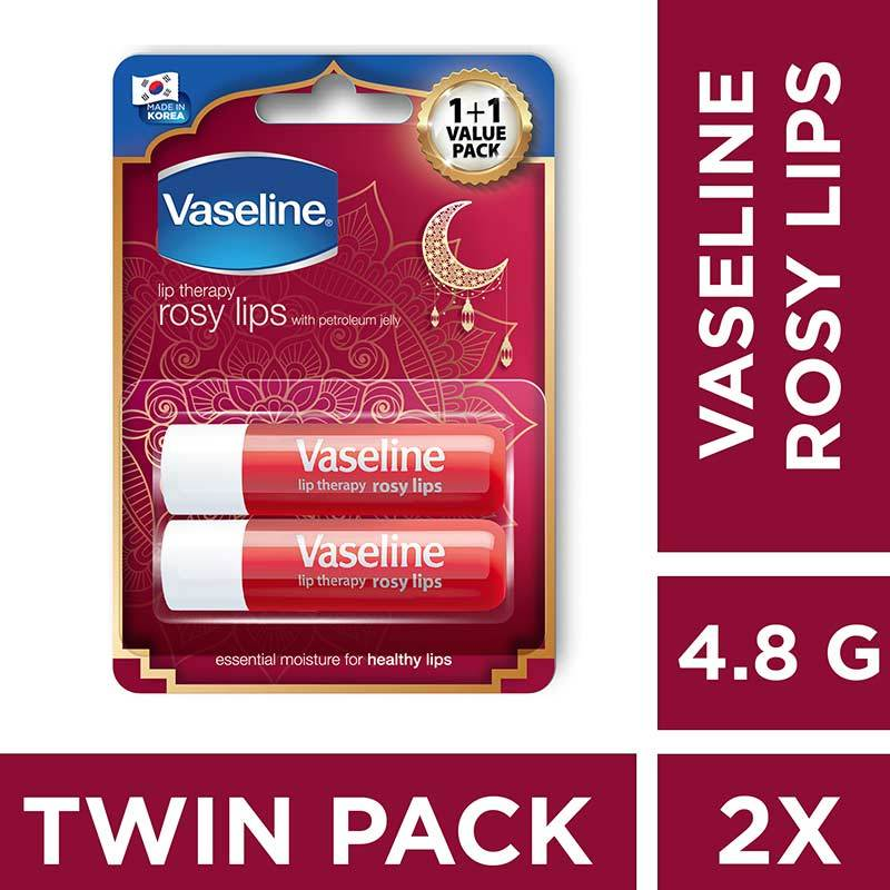 Vaseline Lip Therapy Rosy Lips Twin Pack Lip Balm