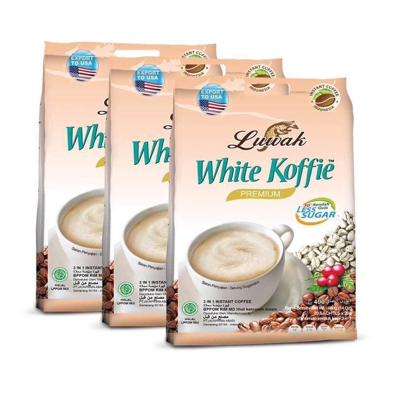 Kopi Luwak White Koffie Less Sugar Bag [20 gr/ Triple Pack]
